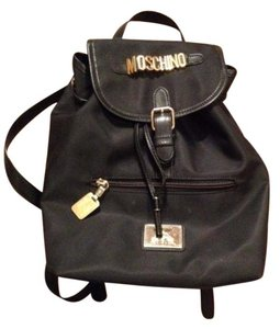 Moschino Nylon Leather Large Backpack