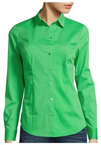 Worthington Button Down Shirt Luau Green