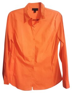 Worthington Button Down Shirt Bright Orange