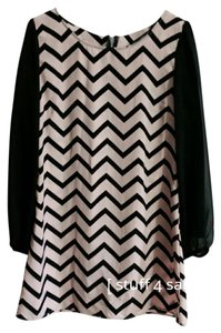 Speechless short dress Blush Pink / Black on Tradesy