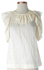3.1 Phillip Lim Silk Ruffle Top Ivory