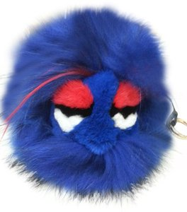 Fendi Fendi Monster Keychain - Blue/Red