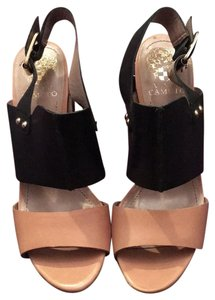 Vince Camuto Black, baiege Mules