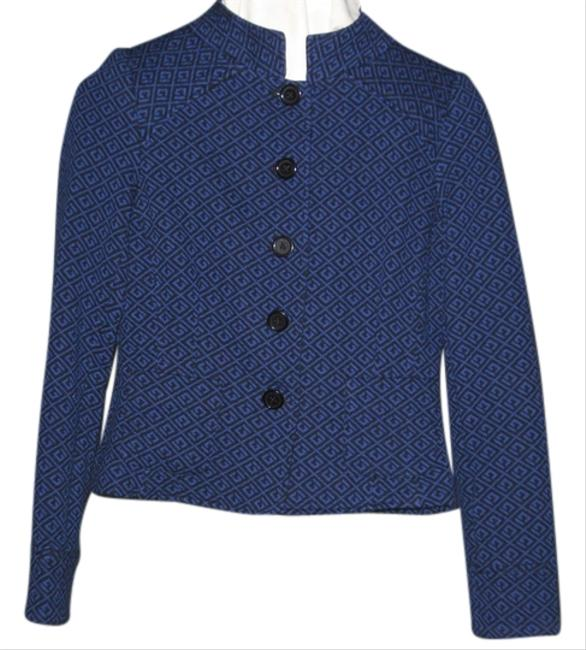 Nicole Miller Black and Periwinkle Blazer