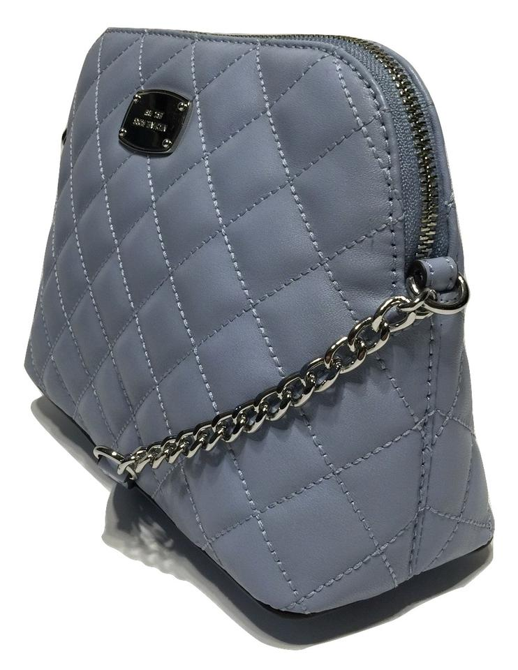 33d427fcdcb3bf Michael Kors Cindy Large Dome Quilted Pale Blue Leather Cross Body Bag -  Tradesy