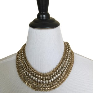 Gold & Rhinestone Rich Gold Chain & Rhinestone STATEMENT Necklace