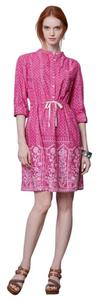 Anthropologie short dress Pink Meadow Rue Gossamer Peasant Romantic Bohemian on Tradesy