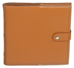 Hermes Hermes Gold Buffle Skipper Leather Address Book/Notebook 0-8523