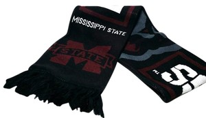 adidas Mississippi This is Our State Bulldogs Scarf Wrap Knit Black Beanie Hat