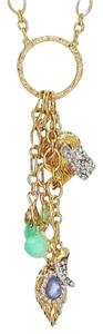 Alexis Bittar Alexis Bittar Dangling Lion Charm Pendant with Chrysoprase Necklace