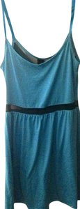 Derek Heart short dress Turquoise/Black Cut-out Bright Mesh on Tradesy
