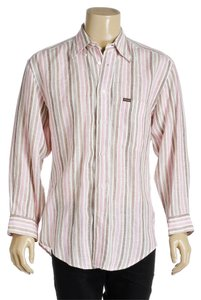 Faconnable T Shirt Pink and Brown