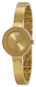 Movado Bold Champagne Sunray Dial Ion-Plated Watch