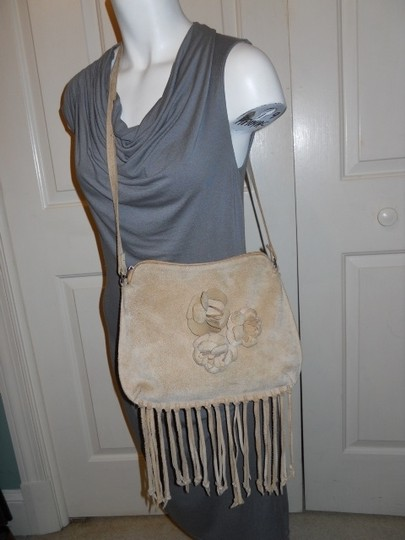 Christian Livingston Collection Leather Suede Fringe Cross Body Bag