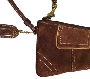 Coach Brown Suede Wristlet Wristlet in Brown