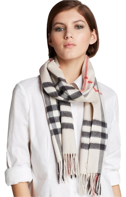 Item - Stone Check New Giant Cashmere In Double Your Money Back Scarf/Wrap