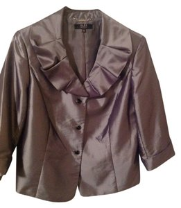 Alex Marie Silk Dillard's brand jacket, cropped with jeweled buttons