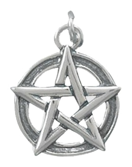 unknown Sterling Silver Oxidized Pentagram Charm