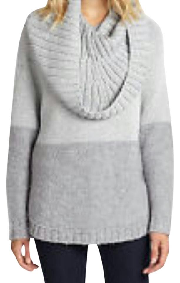 Michael Kors Gray Sweater With Detachable Collar Ponchocape Size 14