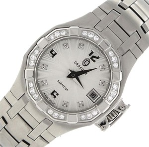 Concord Lovley Ladies Concord Saratoga Stainless Steel Diamond 14.36.1840 Date Watch