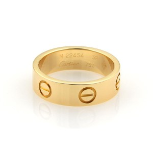 Cartier Cartier Love 18k Yellow Gold 5.5mm Wide Band Ring Eu 52- 5.75