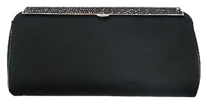 Versace Silk Crystal Evening BLACK Clutch