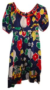 Voom by Joy Han short dress Multi Anthro Anthropologie Elephant Novelty Print Silk Boho on Tradesy