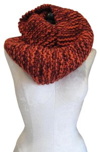 BAJIBAJA for Barneys New York BUJIBAJA for Barneys New York, Orange and Brown, Chunky Knit, Infinity Scarf