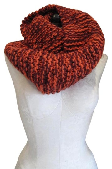 BAJIBAJA for Barneys New York BUJIBAJA for Barneys New York, Orange and Brown, Chunky, Scarf