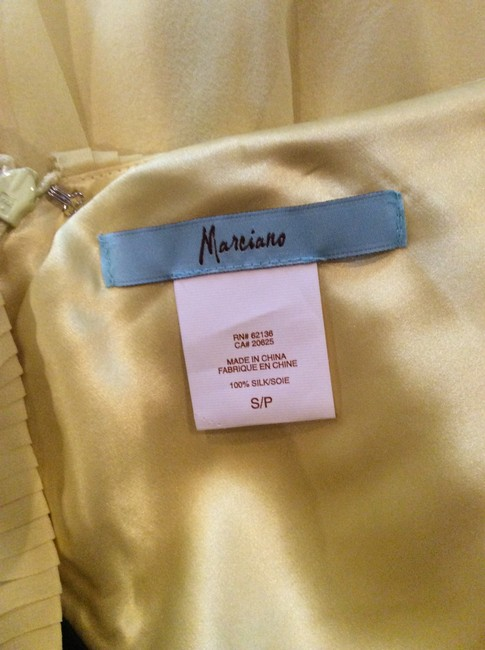 Marciano Yellow Silk Dress