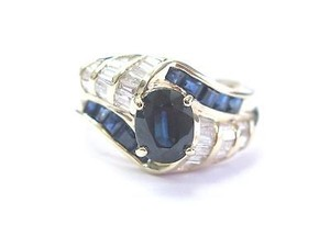 Other Fine,Gem,Sapphire,Diamond,Anniversary,Jewelry,Yellow,Gold,Ring,,