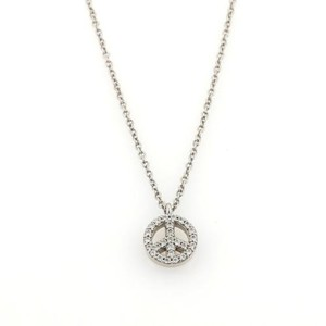 Tiffany & Co. Tiffany Co. Diamonds 18k White Gold Peace Sign Pendant Necklace