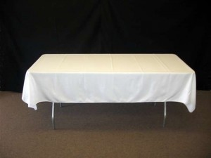 White 14 Or For All Tablecloth
