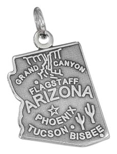 unknown Sterling Silver Arizona State Charm