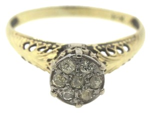 Other Antique Art Deco Diamond 14k Yellow Gold Engagement Ring 6.5