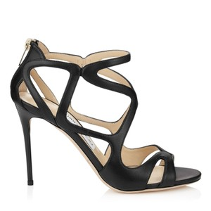 Jimmy Choo Leslie Caged Sandals Nappa Nw Black Pumps