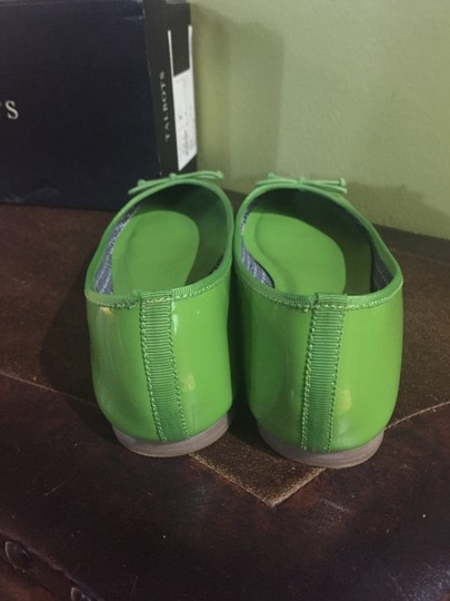 Talbots Jilly Ballet Patent Leather Nwt Bright Lime Flats