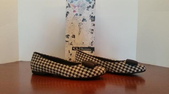 Chinese Laundry Ballet And White Size 7.5 Black houndstooth Flats Image 2