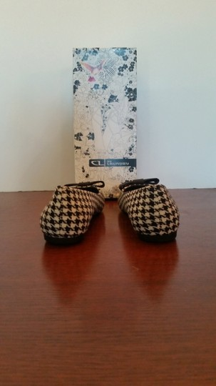 Chinese Laundry Ballet And White Size 7.5 Black houndstooth Flats Image 3