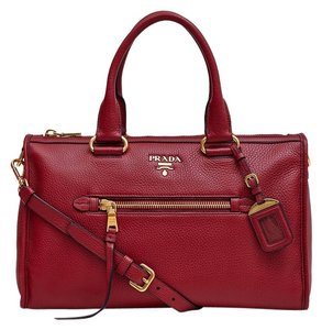 Prada Hot New Fashion Tote in Brick Red