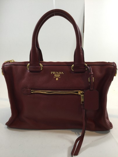Prada Tote in Brick Red