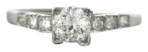 Elegant Antique Art Deco Platinum 0.72ctw Solitaire Accent Engagement Ring EGL
