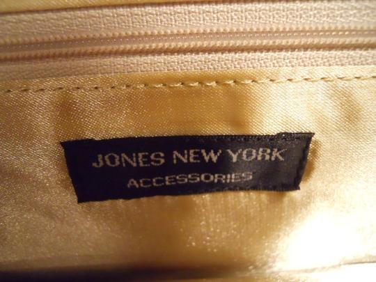 Jones New York Satchel in tan & white