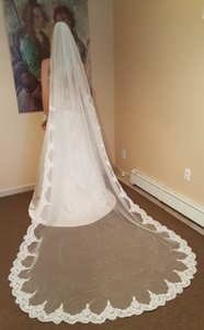 Gorgeous Lace Cathedral Veil Ivory With Metal Comb ...
