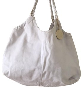 Charles David Tote in White With Gold Hardware