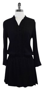 Alice + Olivia short dress Black Long Sleeve Drop Waist on Tradesy