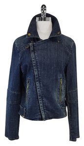 Tory Burch Denim Motorcycle Motorcycle Jacket