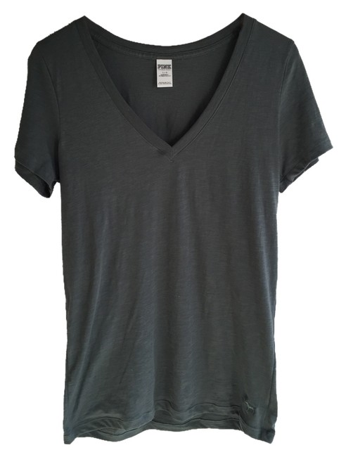Item - Army Green Essential V-neck Tee Shirt Size 12 (L)