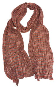 Missoni Pink Brown & Red Striped Scarf
