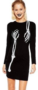 short dress Black, White Punk Rock Gothic Skeleton on Tradesy